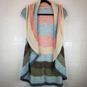 Cabi size small sleeveless crochet flowy cardigan